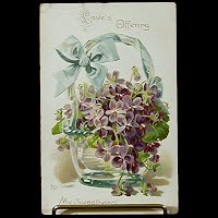 Antique Tuck Postcard, Valentine Floral Missives: Love's Offering to my Sweetheart