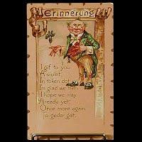 Antique Tuck Postcard, Leatherette Valentine