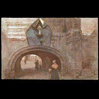 Antique Tuck Postcard, Oilette Archway Vieille Boucherie
