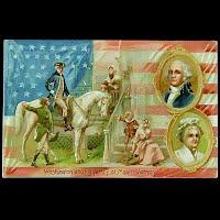 Antique Tuck Postcard, Washington and his family