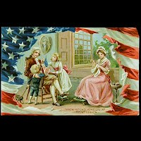 1911 Antique Tuck Postcard, Washington's Home Life