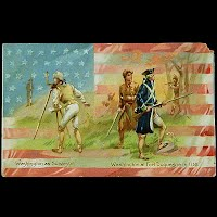 1914 Antique Tuck Postcard, Washington as Surveyor