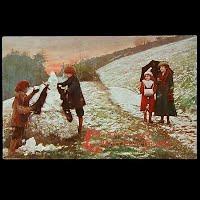Antique Tuck Postcard, Oilette Christmas