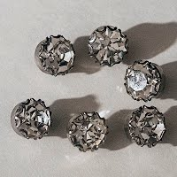 Antique Australian Crystal Buttons