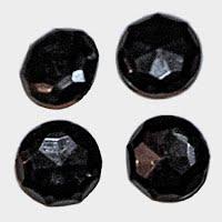 Antique Black Faceted Buttons