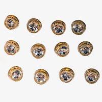 Antique Rhinestone Buttons
