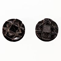 Antique Black Carved Buttons