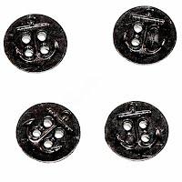 Antique Black Navy World War II Buttons