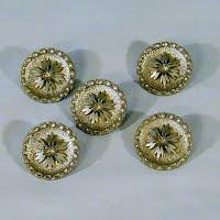 Antique Steel Cut Silver Flower Button, 1900