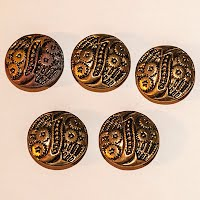 Antique Metal Flower Cut Buttons