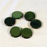 Round Green Buttons, 1940's