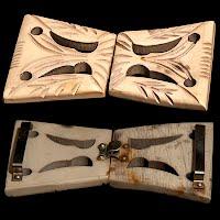 Vintage Tan Bakelite Belt Buckle
