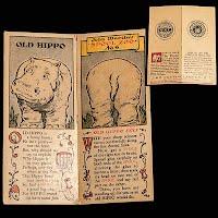 Antique Ephemera Hippo Spool Zoo Trading Card J & P Coats and Clark