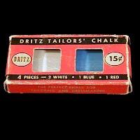 Vintage Dritz Tailors Chalk, 1949