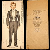 Antique Ephemera J and P Coats and Clark 1916 Best Man Wedding Trade Card