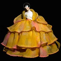 Antique Porcelain Flapper Half Doll Pincushion