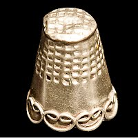 Antique Silver Thimble with Scroll Design