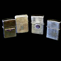 Four Antique Vintage Cigerette Lighters, Westinghouse, Zippo, Storm King, Lord Chesterfield
