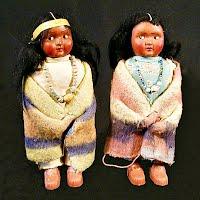 Vintage Skookum Indian Dolls, 1950s