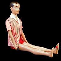 Vintage 1960-62 Ken Doll, original clothes only 1 shoe