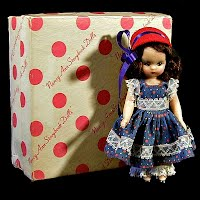 Vintage 1955 Little Betty Blue Nancy Ann Storybook Doll, Mother Goose series 109 with box