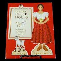 Vintage 1998 Josefina's Paper Dolls, Pleasant Co