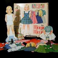 Vintage 1962 Magic Mary Paper Doll, Milton Bradley