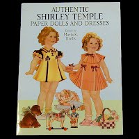 Vintage 1991 Authentic Shirley Temple Paper Dolls & Dresses, Dover Republication, Saalfield Publishing