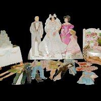 Vintage 1988 Bride and Groom Wedding Paper Dolls, Western Publishing Co