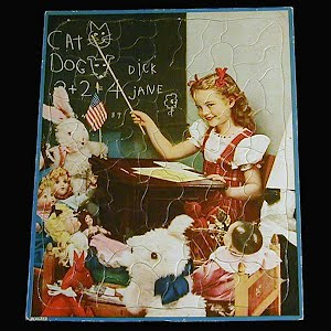 Vintage 1950s Childs Tray Walzer Puzzle, Playing School