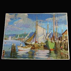 Vintage Walzer Ships Puzzle, 1950