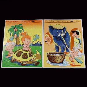 Vintage Flintstones Puzzles, 1964