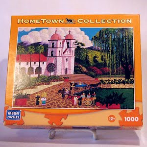 2009 Mega Brands Jigsaw Puzzle, Hometown Collection, Santa Barbara Mission