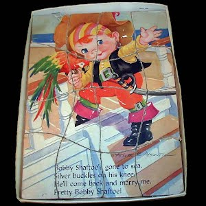 Vintage 1940's Bobby Shaftoe Child's Puzzle