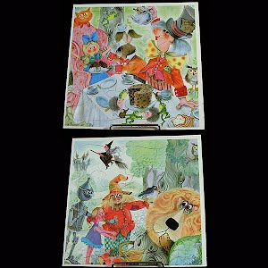 Vintage Alice in Wonderland and Wizard of Oz Puzzle