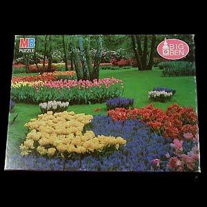 Vintage 1986 Holland garden Puzzle, Milton Bradley Co
