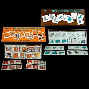 Trend Enterprises, 1977, educational, Mix and Match puzzles