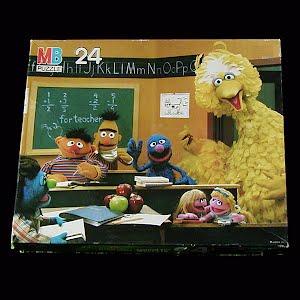 Vintage Sesame Street Muppets Puzzle, 1985