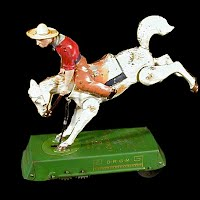 Antique Vintage Bucking Bronco Windup Toy, Lehmann made in Germany