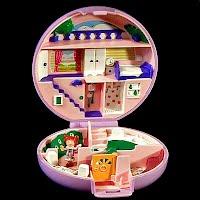 Vintage Polly's Flat Polly Pocket, 1 Polly, Bluebird Toys 1989