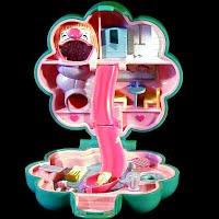 Vintage Water Fun Park Polly Pocket, 1 Polly, Bluebird Toys 1990