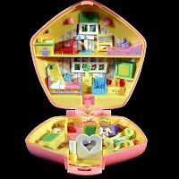 Vintage Polly in the Nursery Polly Pocket, 1 Doctor Polly and 2 Babies, Bluebird Toys 1992