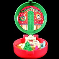 Vintage Totally Toy Holiday Polly Pocket, made for McDonalds Bluebird Toys 1993