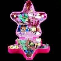 Vintage Fairylight Wonderland Ball Polly Pocket, 2 fairies and 1 actor, Bluebird Toys 1993