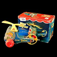 Vintage Fisher Price Mini Copter with box, 1970