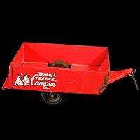 Vintage Buddy L Teepee Camper Trailer, 1950's