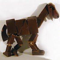Vintage Antique Folk Art Handmade Wooden Goat Toy