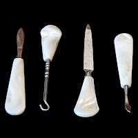 Antique Vintage Mother of Pearl Manicure Set