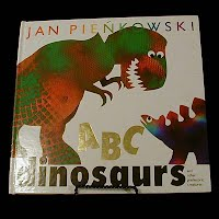 Vintage Children's book, ABC Dinosaurs, pop-out book