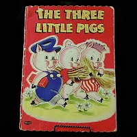 Vintage Book: The Three Little Pigs, 1951
